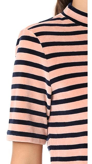 T by Alexander Wang Short Sleeve Mock Neck Dress
