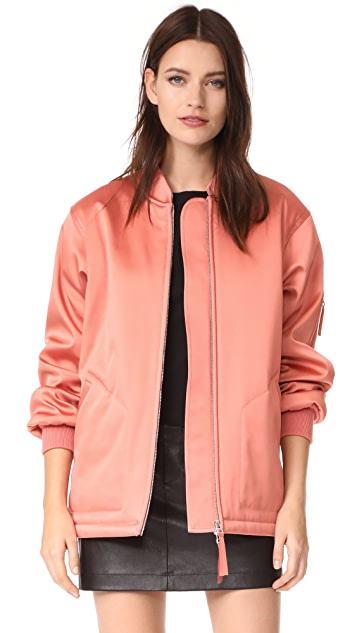 T by Alexander Wang Oversized Bomber Jacket