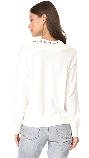 T by Alexander Wang Deep V Sweater with Inner Tank