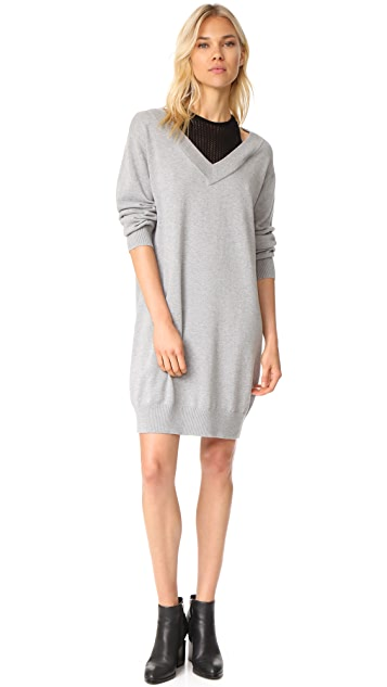 T by Alexander Wang Dress with Inner Tank Combo