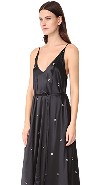 T by Alexander Wang Mixed Media Trapeze Dress