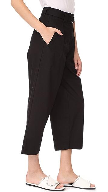 alexanderwang.t Paper Bag Waist Pants with Belt