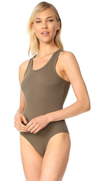 alexanderwang.t Sleeveless Ribbed Bodysuit
