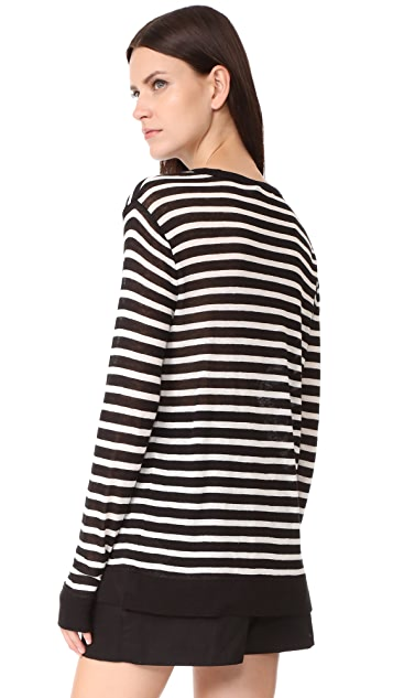 T by Alexander Wang Long Sleeve Crew Neck Tee