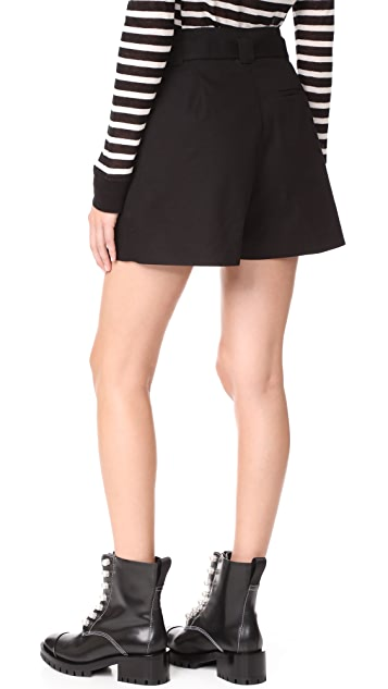 T by Alexander Wang Paperbag Waist Shorts with Belt