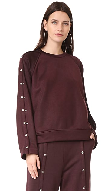 T by Alexander Wang Sweatshirt with Snaps
