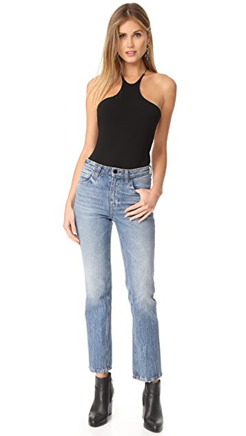 T by Alexander Wang Stretch Jersey Razor Front Bodysuit
