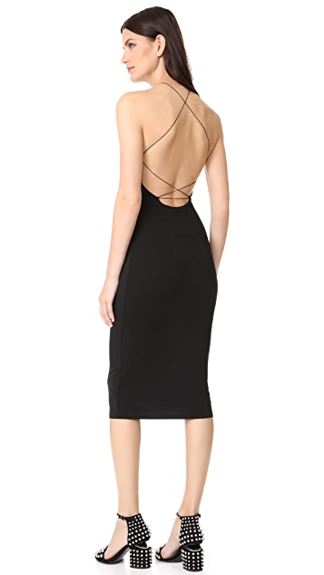 T by Alexander Wang Stretch Jersey Razor Front Dress