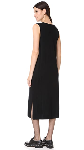 alexanderwang.t Milano Knit Sleeveless V Neck Dress
