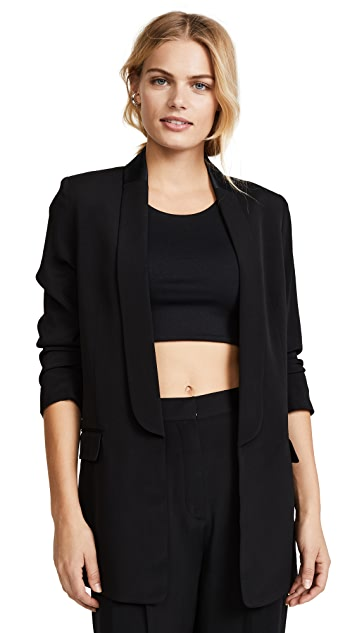 T by Alexander Wang Soft Suiting Tuxedo Blazer