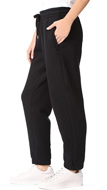 T by Alexander Wang Dense Fleece Pull On Joggers