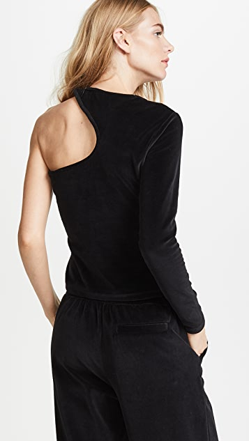 T by Alexander Wang Velour Cutout Top