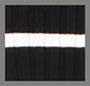 Black with Ivory Stripe