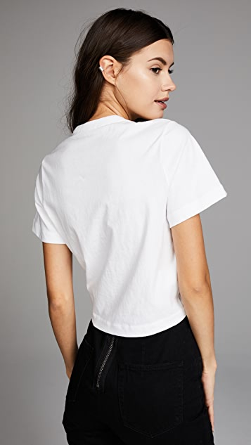 alexanderwang.t High Twist Tee with Gathered Front