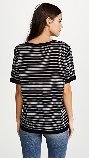 T by Alexander Wang Wash & Go Stripe Short Sleeve Tee