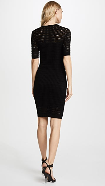 T by Alexander Wang Lace Short Sleeve Dress