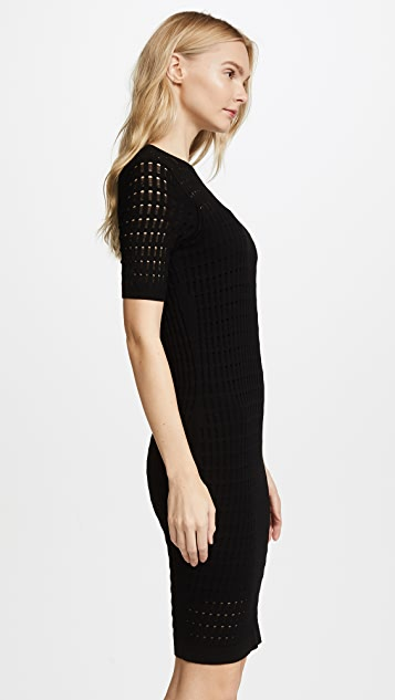 alexanderwang.t Lace Short Sleeve Dress