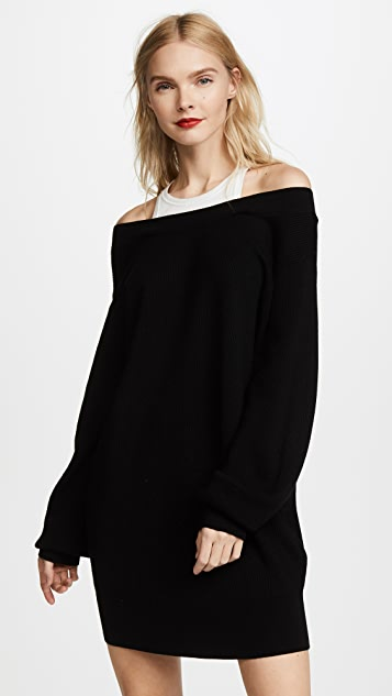 T by Alexander Wang Knit Dress with Inner Tank