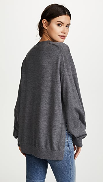 alexanderwang.t Twisted Sleeve Sweater