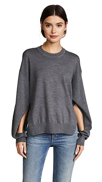 T by Alexander Wang Twisted Sleeve Sweater