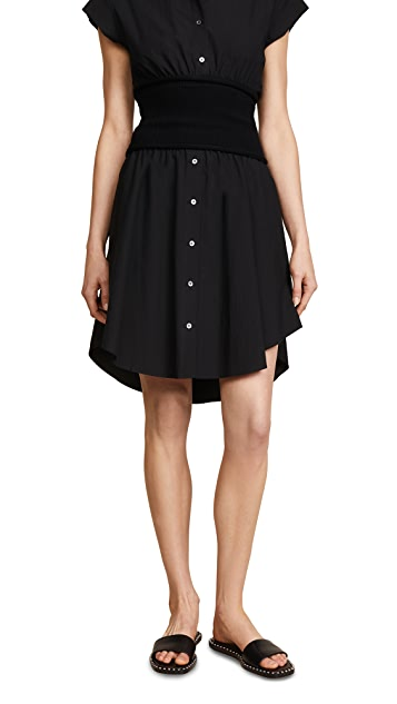 T by Alexander Wang Skirt with Rib Combo