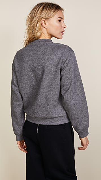 T by Alexander Wang Slit Front Long Sleeve Sweatshirt