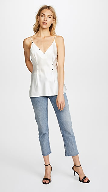 T by Alexander Wang Silk Rivet Cami