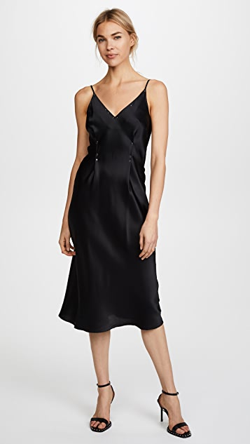 T by Alexander Wang Silk Rivet Cami Dress