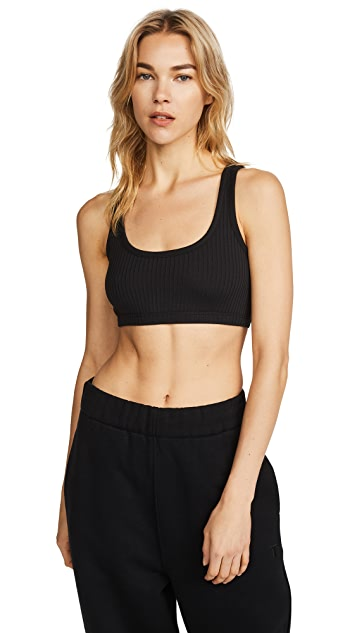 T by Alexander Wang Stretch Rib Bra Top