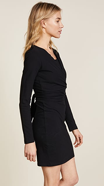 alexanderwang.t Long Sleeve Dress with Front Tie