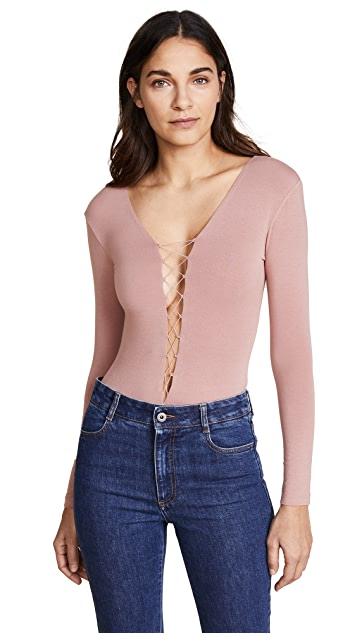 T by Alexander Wang Lace Up Bodysuit