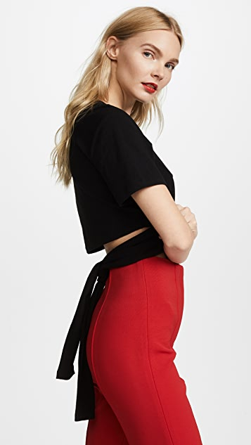 T by Alexander Wang High Twist Crop Tee