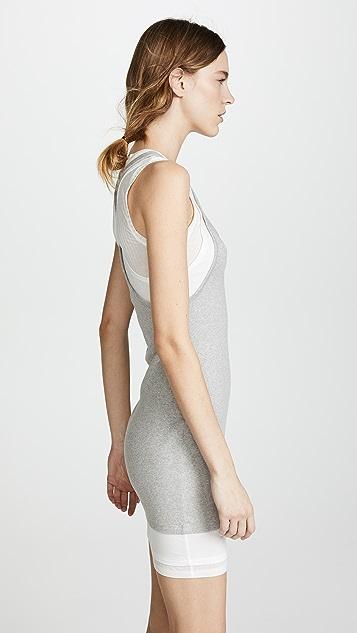 alexanderwang.t Layered Mixed Media Tank Dress