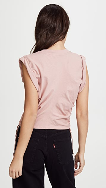 alexanderwang.t Jersey Crop Top with Side Ties