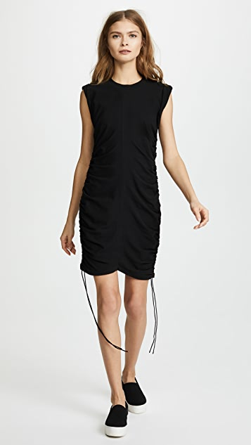 T by Alexander Wang High Twist Jersey Mini Dress with Side Ties