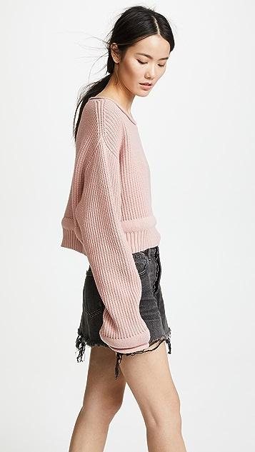 alexanderwang.t Пуловер с широким вырезом и объемной отделкой