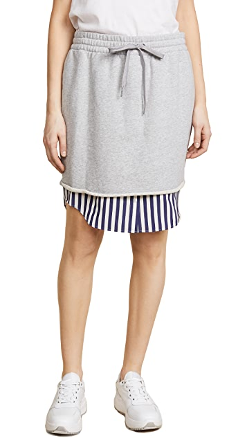 T by Alexander Wang Combo Pull On Skirt