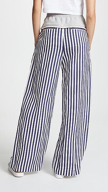 alexanderwang.t Terry Stripe Combo Pull On Pants