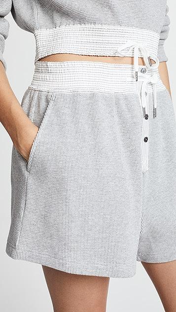 alexanderwang.t Heavy Waffle Knit Gym Shorts