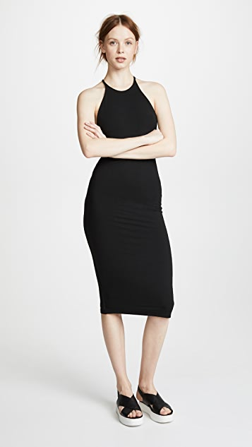alexanderwang.t Stretch Jersey T Back Midi Dress