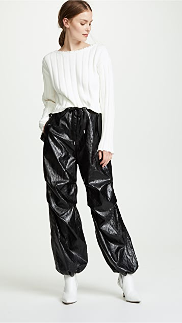 alexanderwang.t Papery Faux Leather Pants