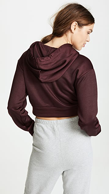 alexanderwang.t Sleek French Terry Twist Front Hoodie