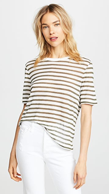 T by Alexander Wang Striped Slub Jersey Tee