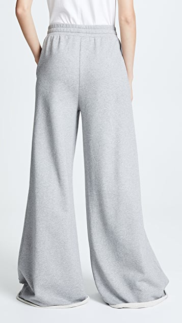 alexanderwang.t Dry Distressed Wide Leg Pants