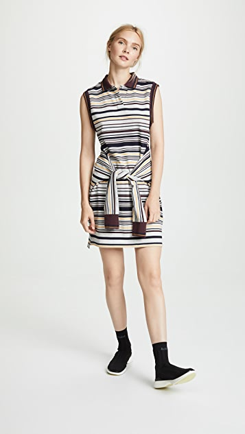 T by Alexander Wang Sleeveless Tie-Front Polo Dress