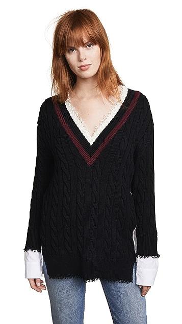 alexanderwang.t Hybrid Varsity Pullover