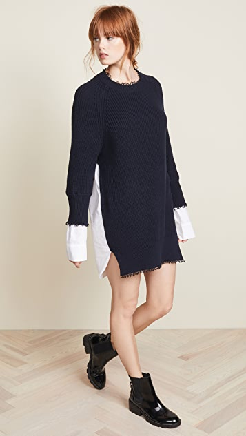 3d4bd865be2 alexanderwang.t Hybrid Varsity Sweater Dress