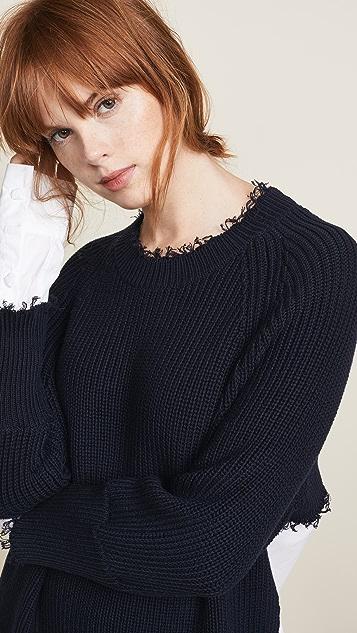 T by Alexander Wang Hybrid Varsity Sweater Dress