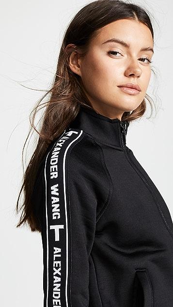 alexanderwang.t Full Zip Shrunken Track Jacket