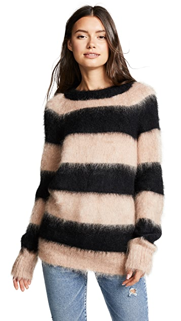 T by Alexander Wang Mohair Stripe Pullover